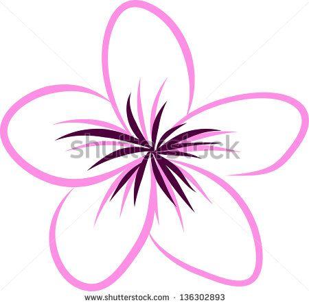 Drawing Tropical Plumeria Flowers Vector