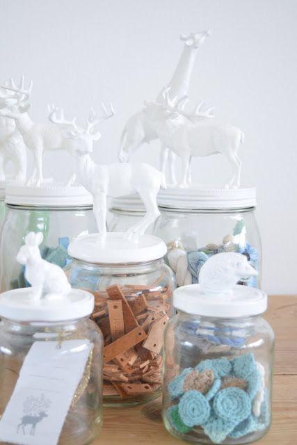 DIY: animal jars