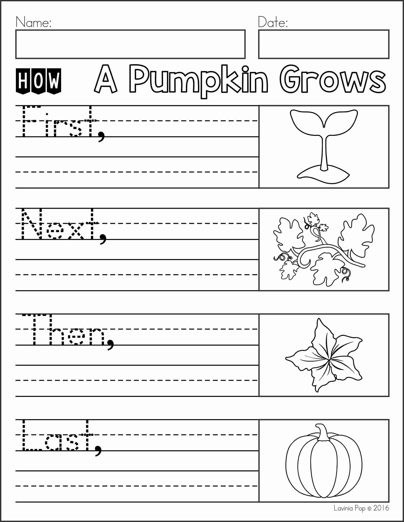 October Writing Journal Prompts | Kindergarten | Pinterest