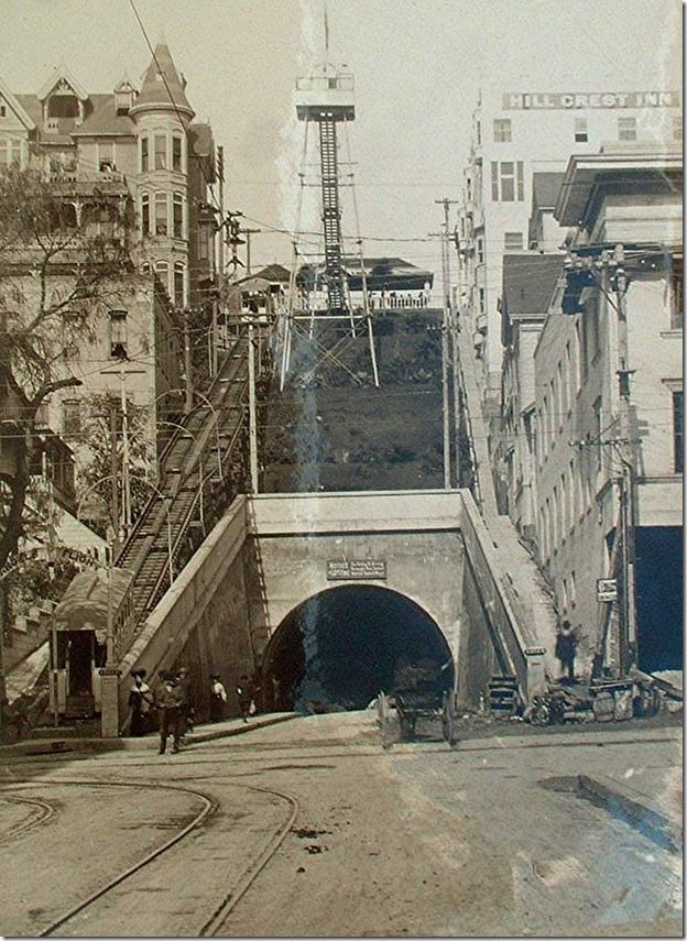 Angels Flight And The Third Street Tunnel By C C Pierce Jan 7 1913 I Took The Steps Down Angel S Flight To Hill Street A Hundred Angel Flight California History Bunker Hill Los Angeles