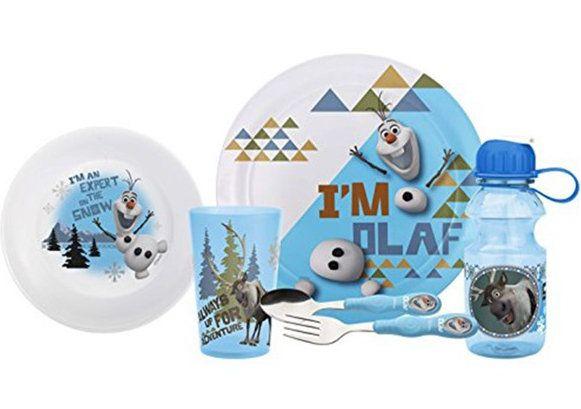 disney frozen olaf dinnerware set for kids