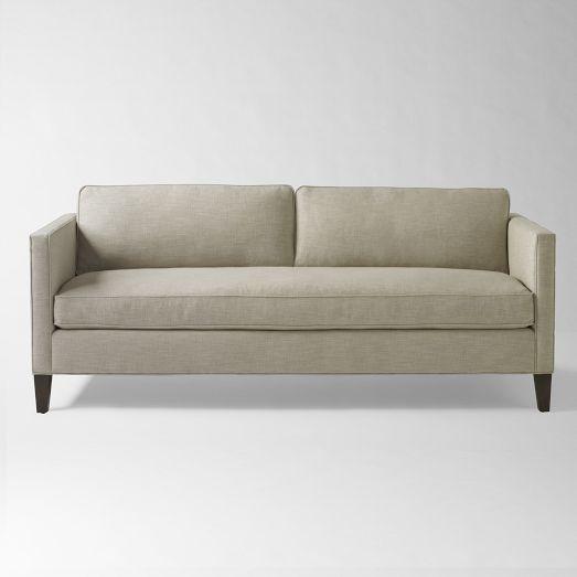 Captivating West Elm | Dunham Sofa $1,599 Down Filled Sofa Box Cushion In Natural (