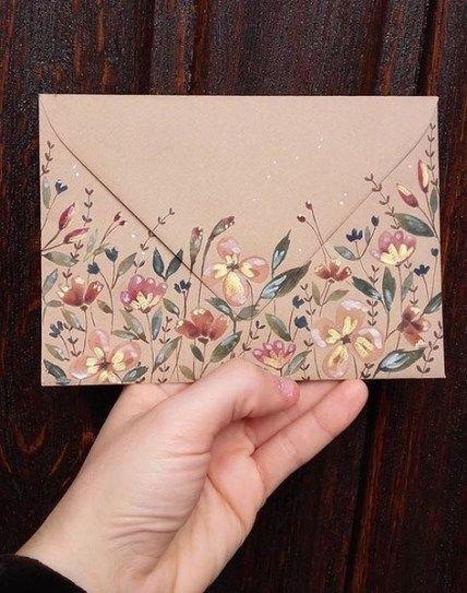 Gifts Diy Aesthetic 36 Ideas #diy #gifts | Envelope art ...