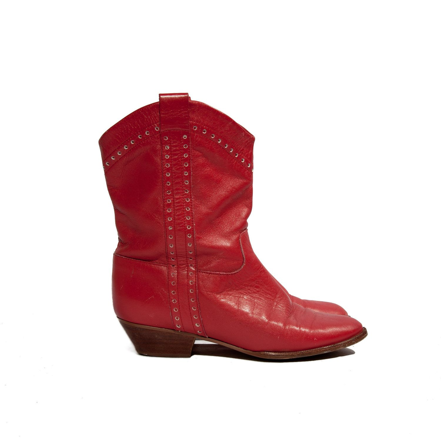 Rockabilly Red Dingo Pee Wee Cowboy Boots for a Women\'s Size 6