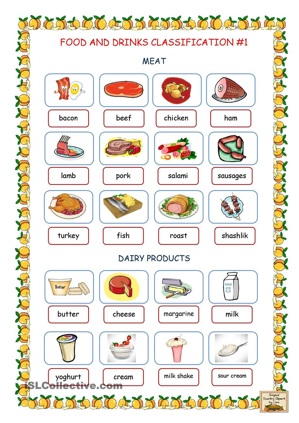 Food & Drinks Classification 1 (Meat, Dairy Products)