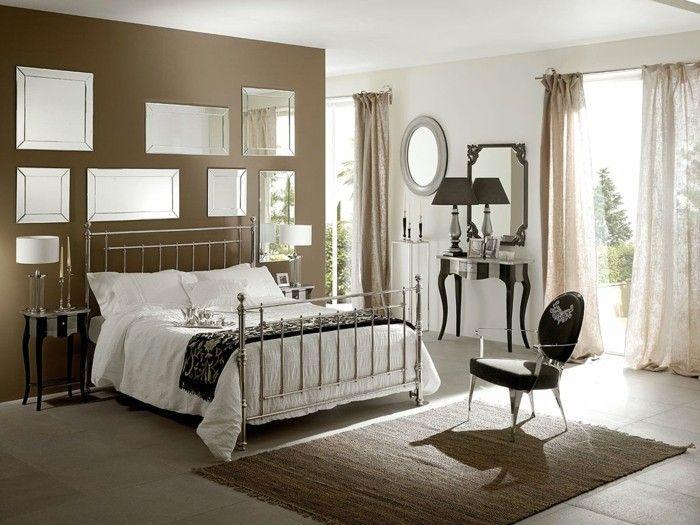 dekoideen schlafzimmer ideen metallbett designer moebel ...