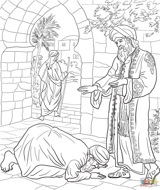 Parable Of The Talents Coloring Page Coloring Pages Kids | projet KT ...