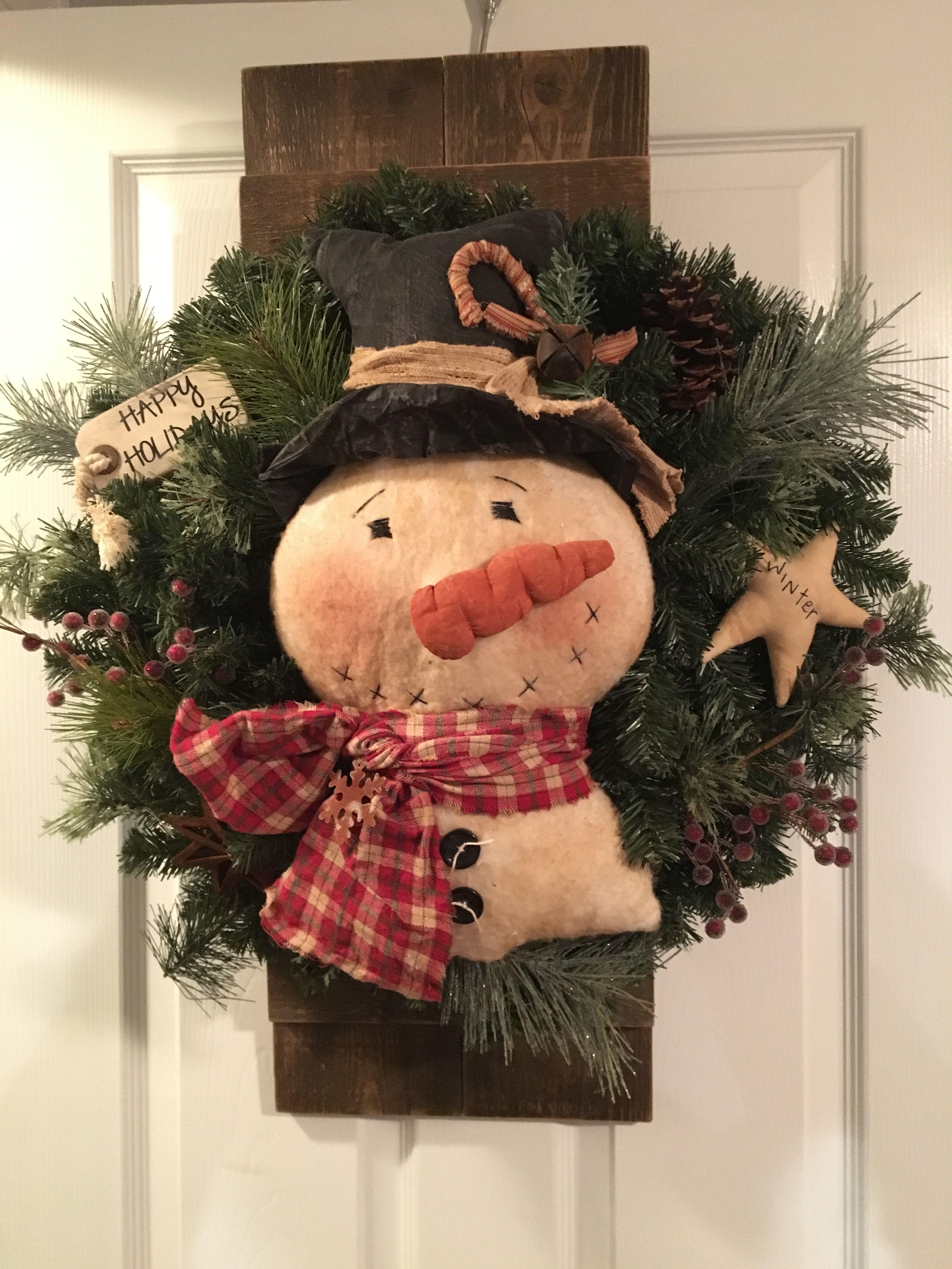 Snowman Wreath Snowman Wreath Pallet Christmas Tree Pallet Christmas