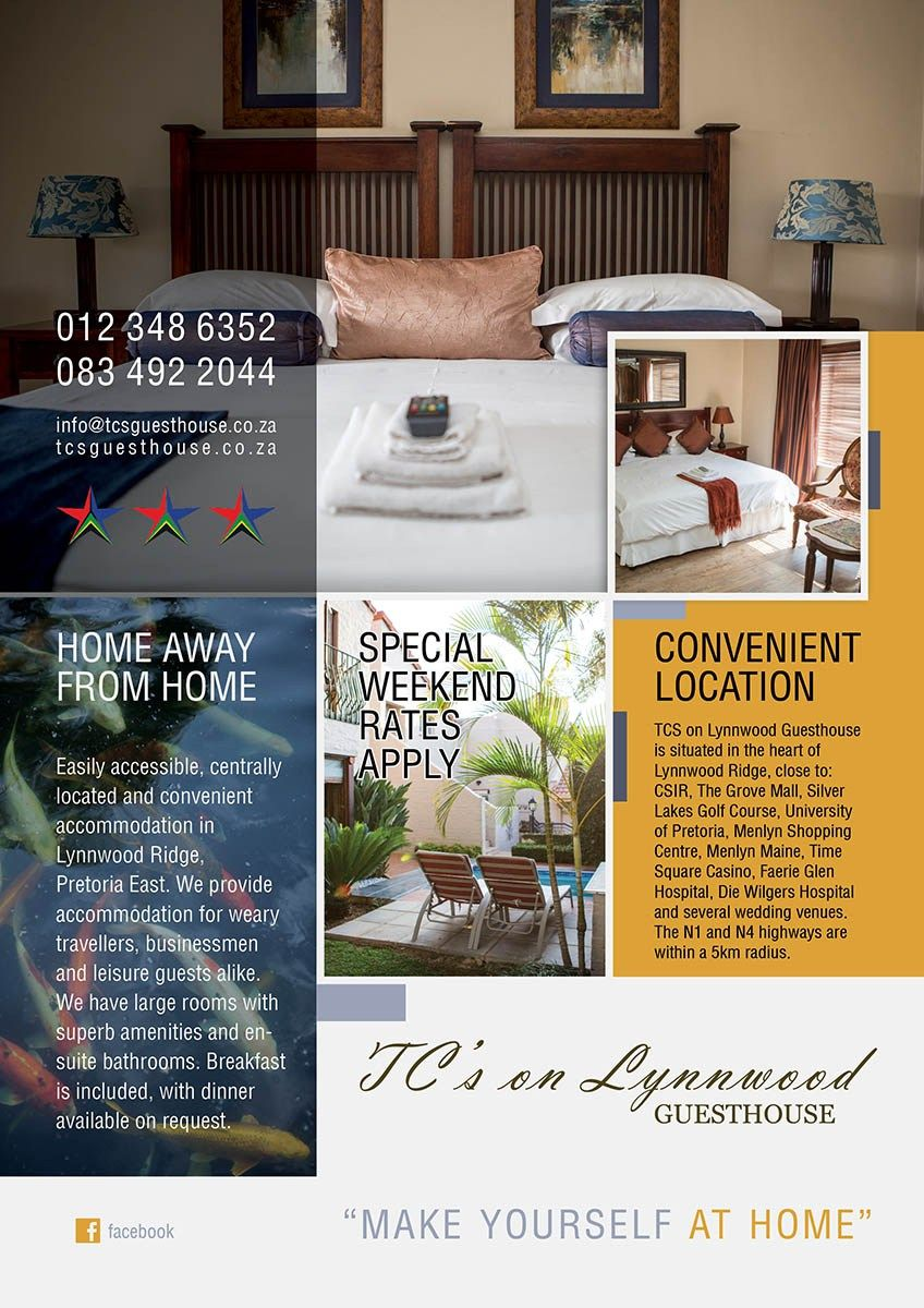 Tcs On Lynnwood Guesthouse Creative Project Included Logo Design Business Card Design Brochure Design Website Des Guest House Website Design Creative Design