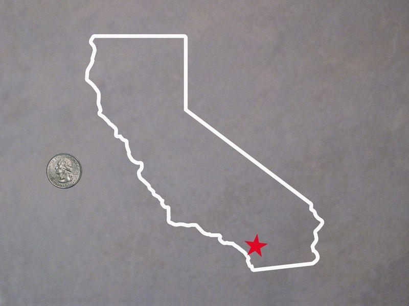 Cute cali tattoo idea california outline california