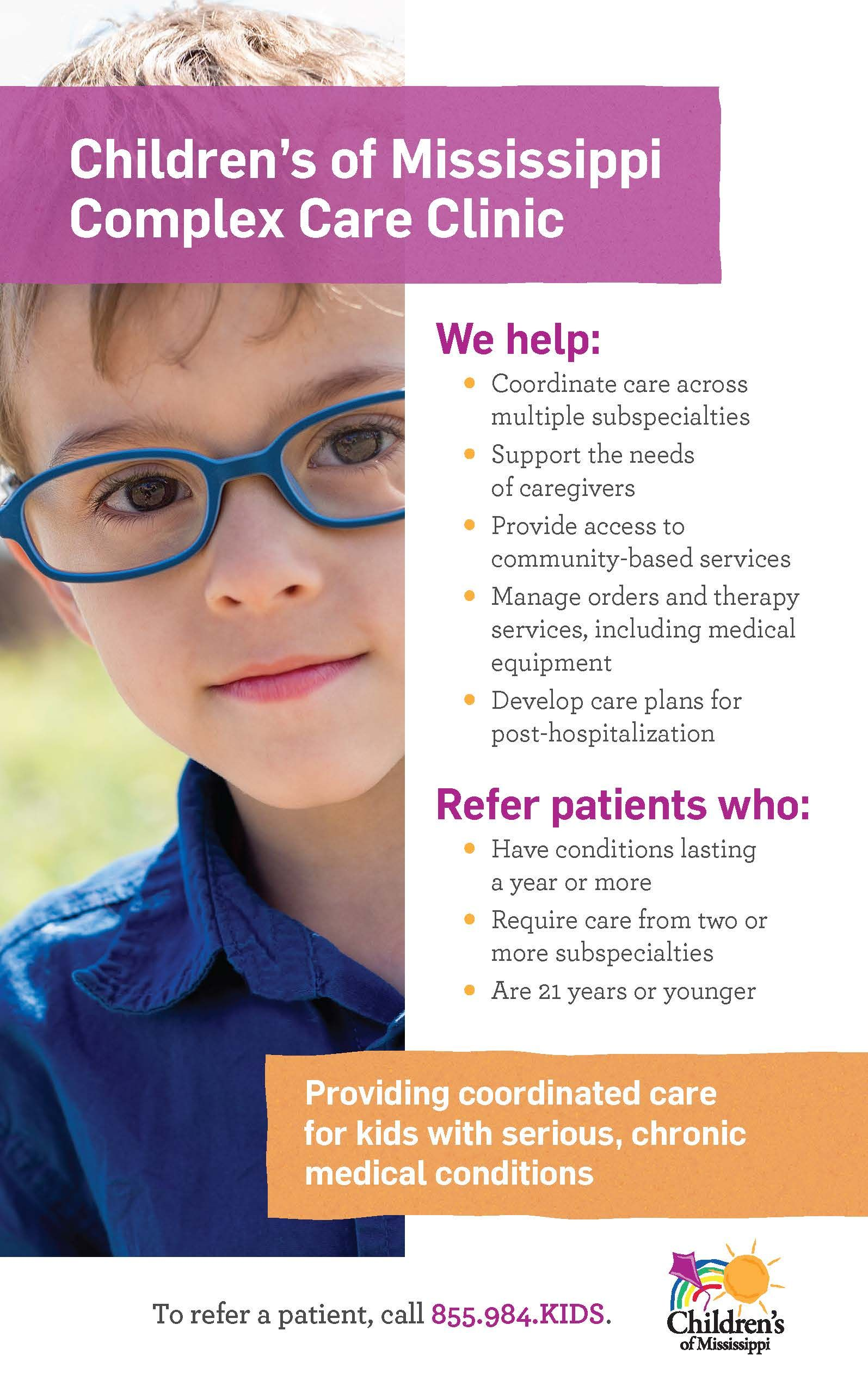 Childrens of mississippi complex care clinic referral