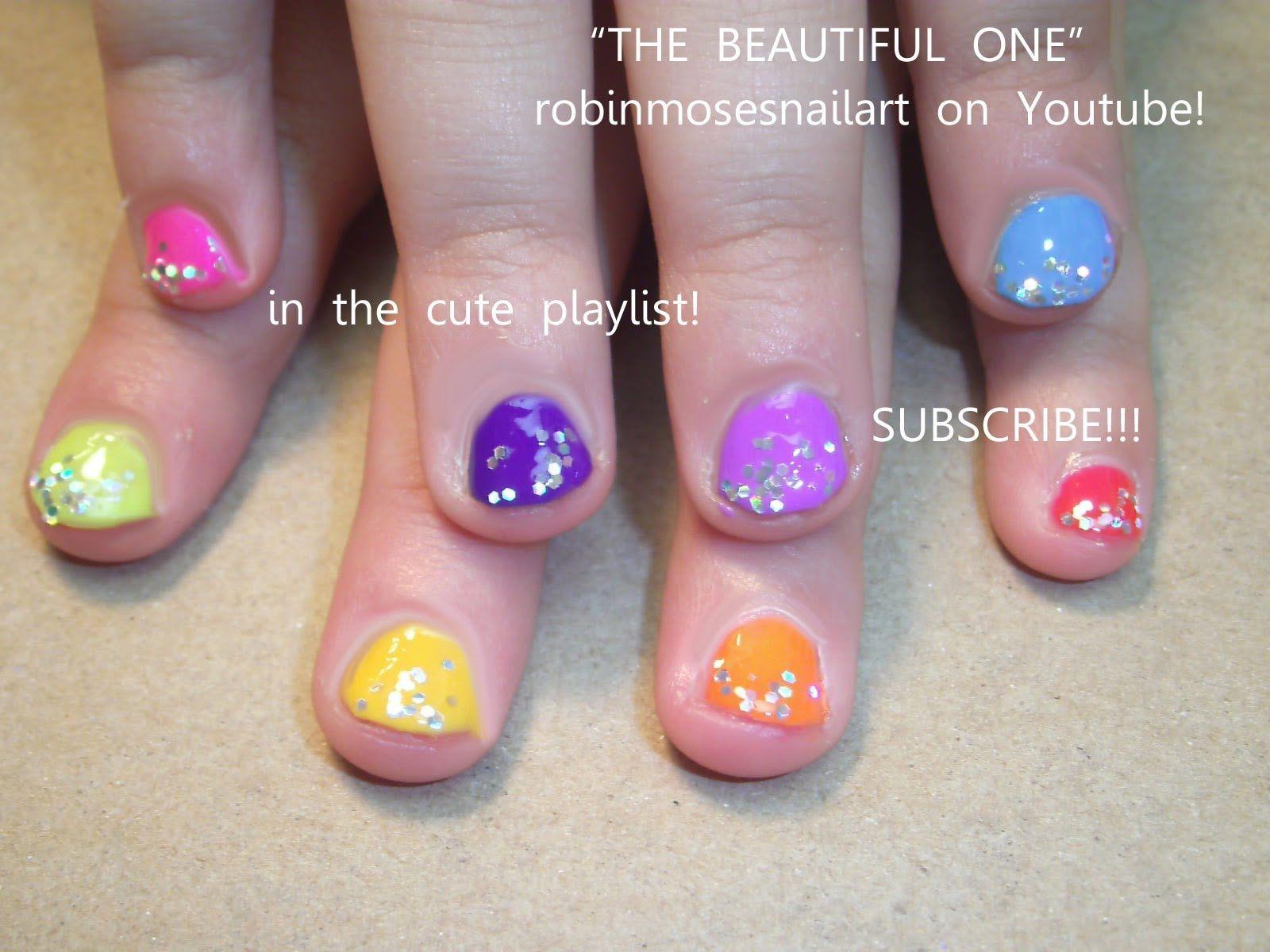 easy-nail-art-for-children-rainb.jpg (1600×1200)   nail art for ...