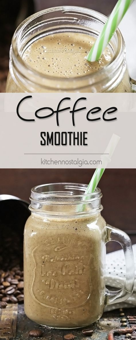 coffee smoothie recipe protein smoothies pinterest. Black Bedroom Furniture Sets. Home Design Ideas