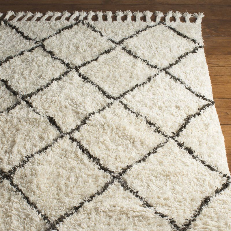 Twinar Geometric Hand Knotted Wool Off White Dark Gray Area Rug Dark Gray Area Rug Grey Area Rug Rugs In Living Room