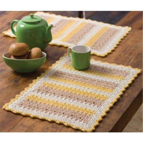 Free Cornmeal Mats Crochet Pattern Crochet Kitchen Dinning Room