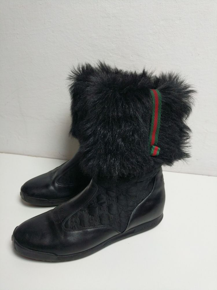 499 GUCCI Fur Boots Leather Women s Size 37.5   UK 4.5   US 7.5 Winter  Shoes  fashion  clothing  shoes  accessories  womensshoes  boots (ebay link) 9d3ba7def1