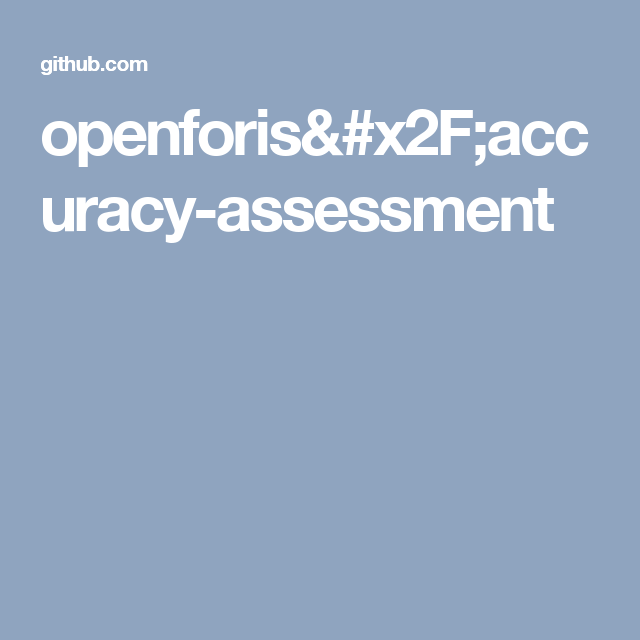 openforis Accuracy Assessment R shiny apps by FAO
