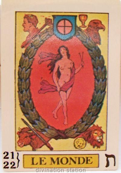 Antique Tarot Card The Fool: The World Rare/OOP/Vintage Tarot : Vintage Tarot Cards