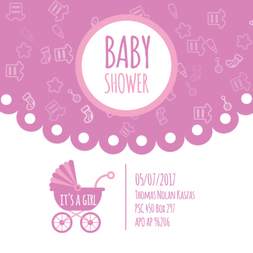 Shower For Newborn Celebration Greeting And Invitation Card