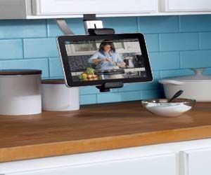 Kitchen Cabinet Tablet Mount Hang Your Tablet Under Your Cabinet To