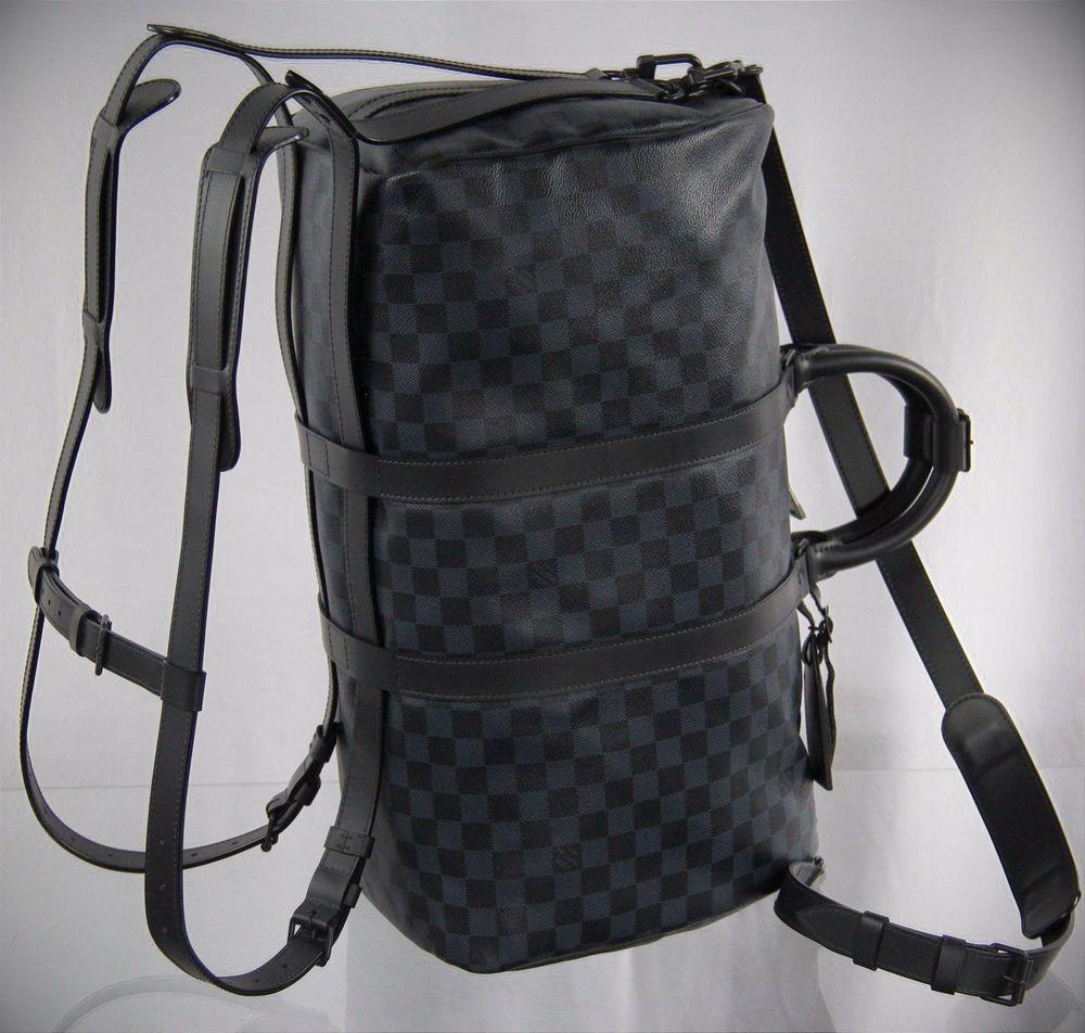 18cad7e28e LOUIS VUITTON Damier Keepall 45 A À Dos Backpack Boston Bag Travel ...