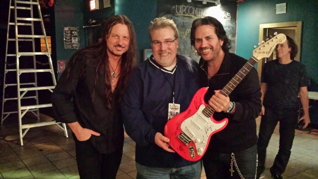 Backstage with Reb Beach and Kip Winger of the band Winger ....still rockin' after 26 years!