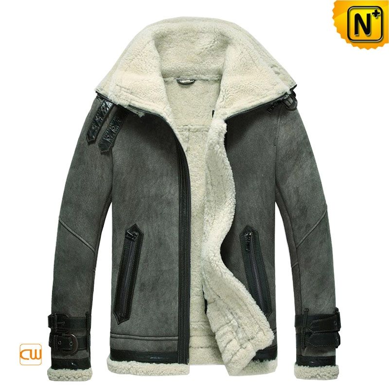 Mens Winter Sheepskin Shearling Jacket CW877063 $1595.89 - www ...