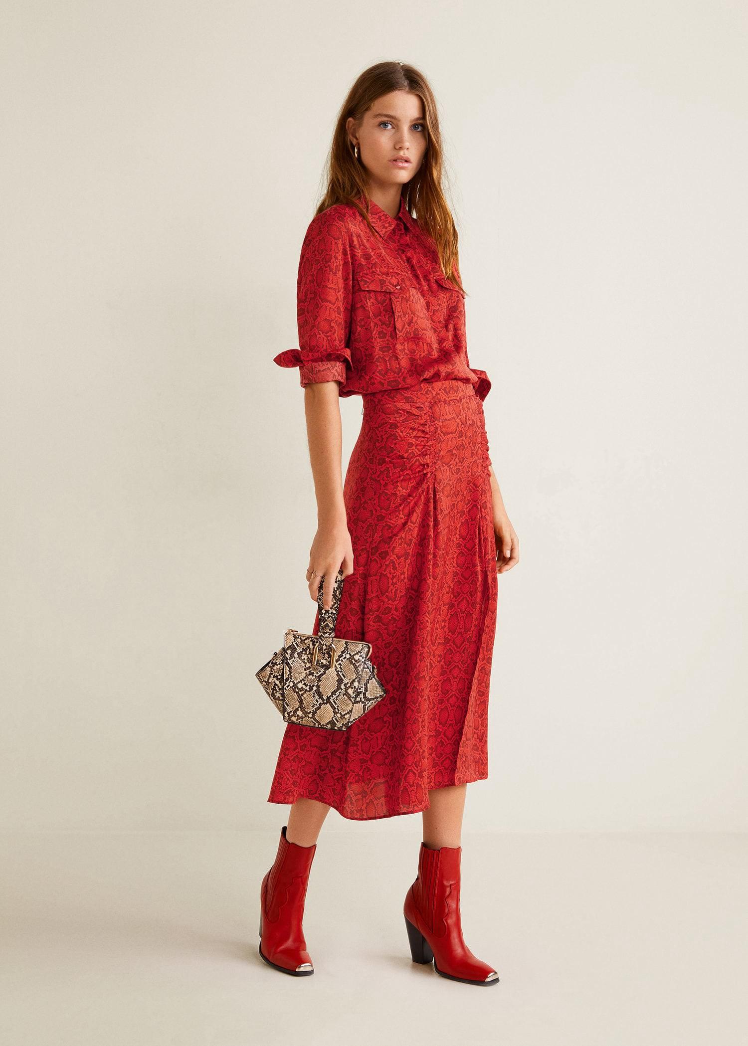 fc38e9ad Mango Snake Print Skirt - S | Products | Printed skirts, Fashion ...