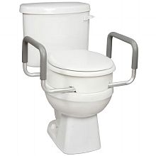 Carex Toilet Seat Elevator With Arms For Elongated Toilets