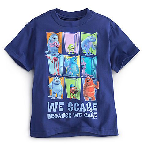 Monsters Inc T-Shirt. $12.50. http://www.disneystore.com/tees-tops-shirts-clothes-monsters-inc-tee-for-boys/mp/1321424/1000228/?CMP=KNC-DSSGoogle