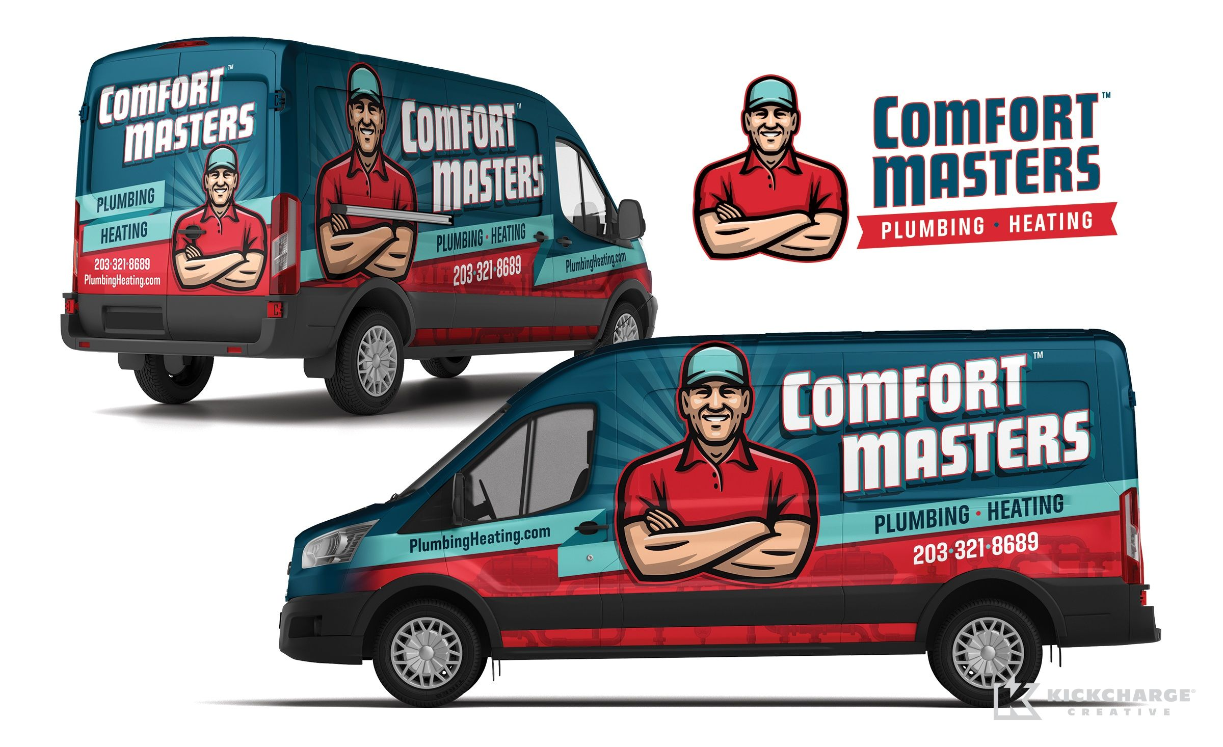 Miraculous Truck Wrap Design For Comfort Masters Plumbing Heating Interior Design Ideas Pimpapslepicentreinfo