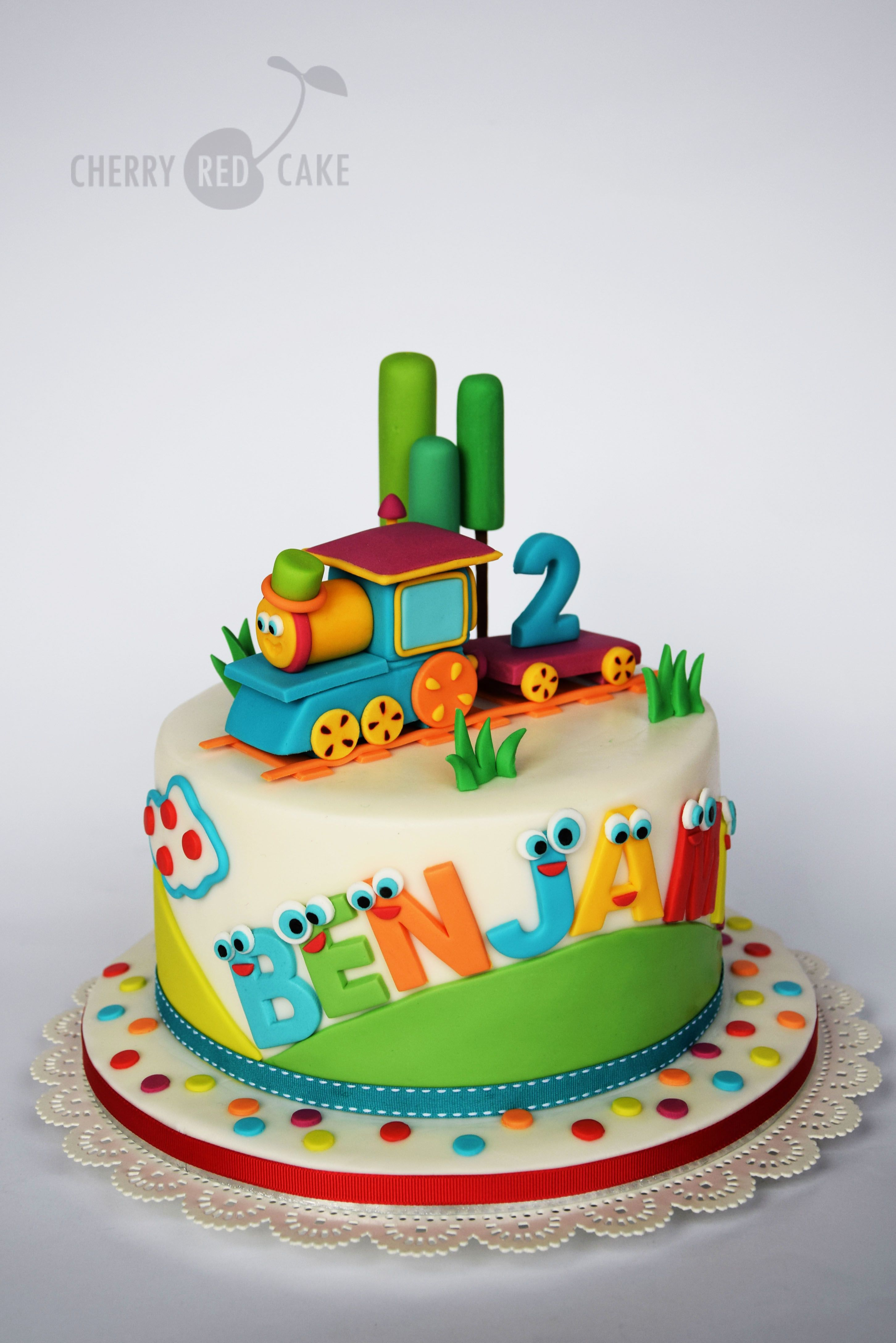 Vintage Train Birthday Cake