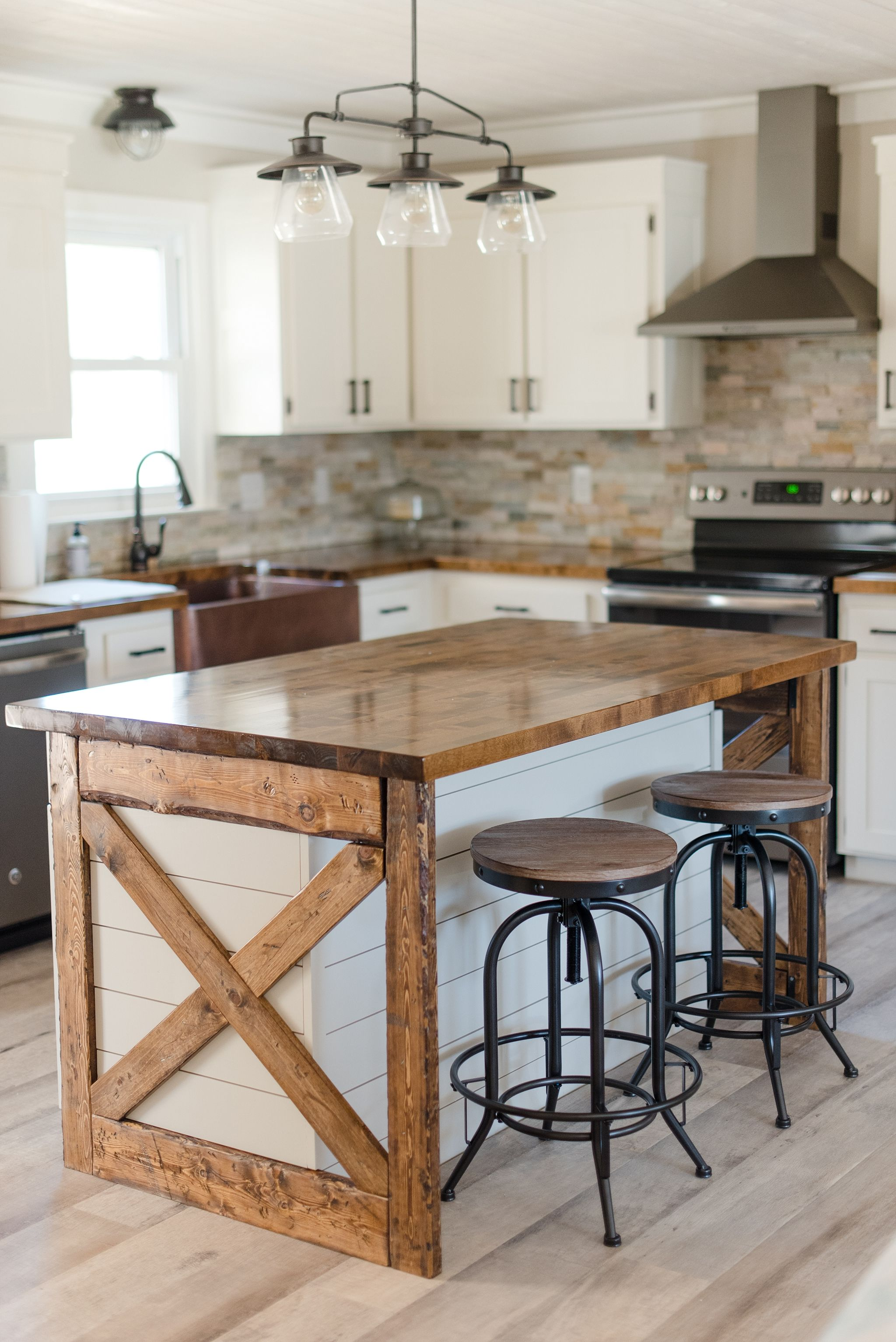 Diy modern farmhouse style kitchen island 2 a
