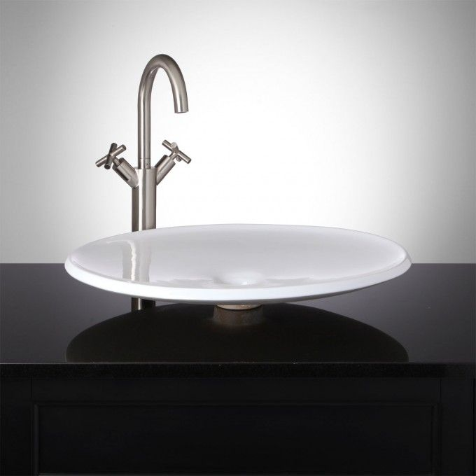 Eclipse Round Shallow Vessel Sink Bathroom Sinks Bathroom