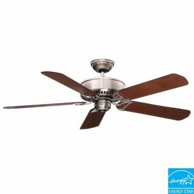 Casablanca Panama Dc 54 In Indoor Brushed Nickel Ceiling Fan With Remote 59511 The Home Depot Brushed Nickel Ceiling Fan Ceiling Fan With Remote Ceiling Fan