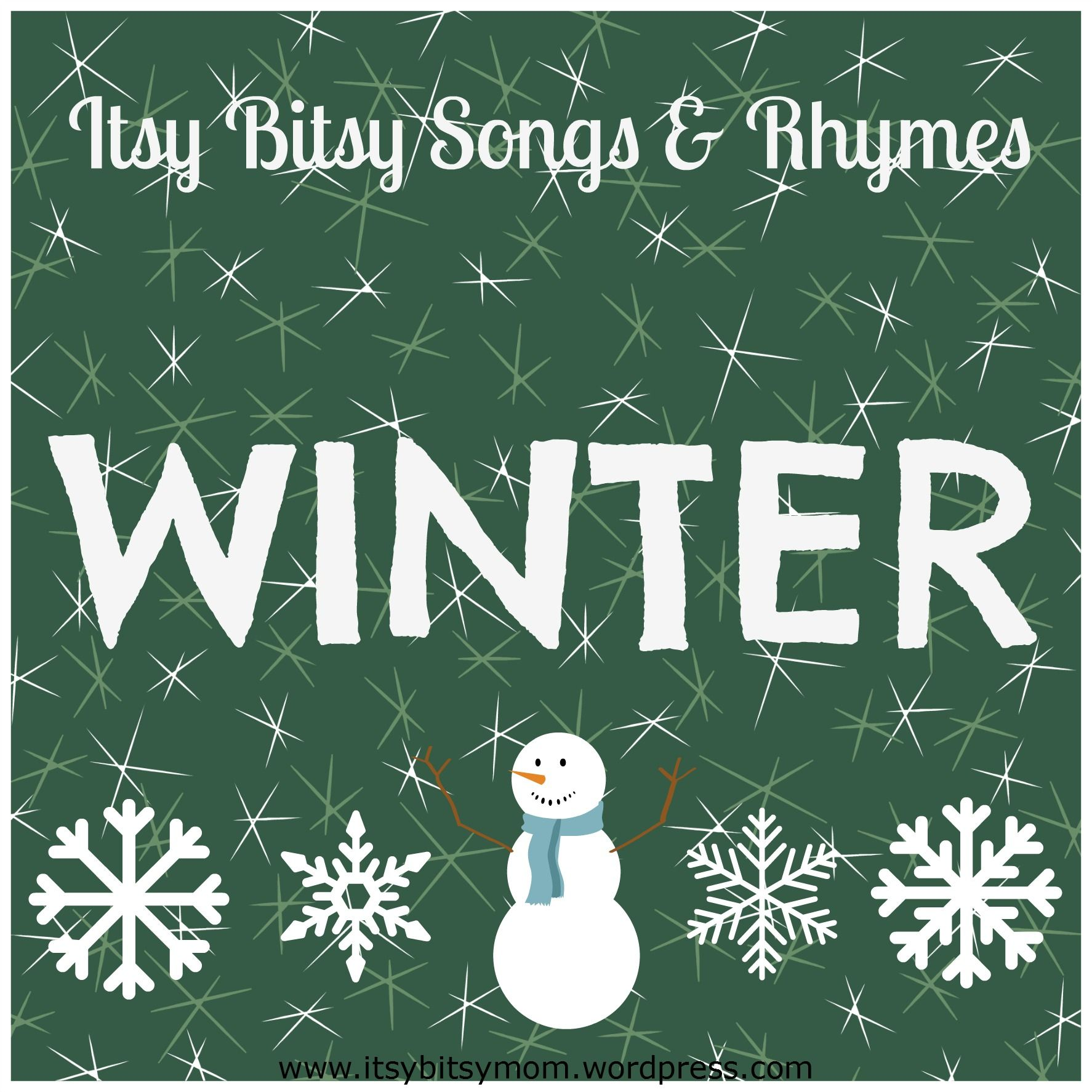 Itsy Bitsy Winter Songs & Rhymes | Story time, Babies and Winter