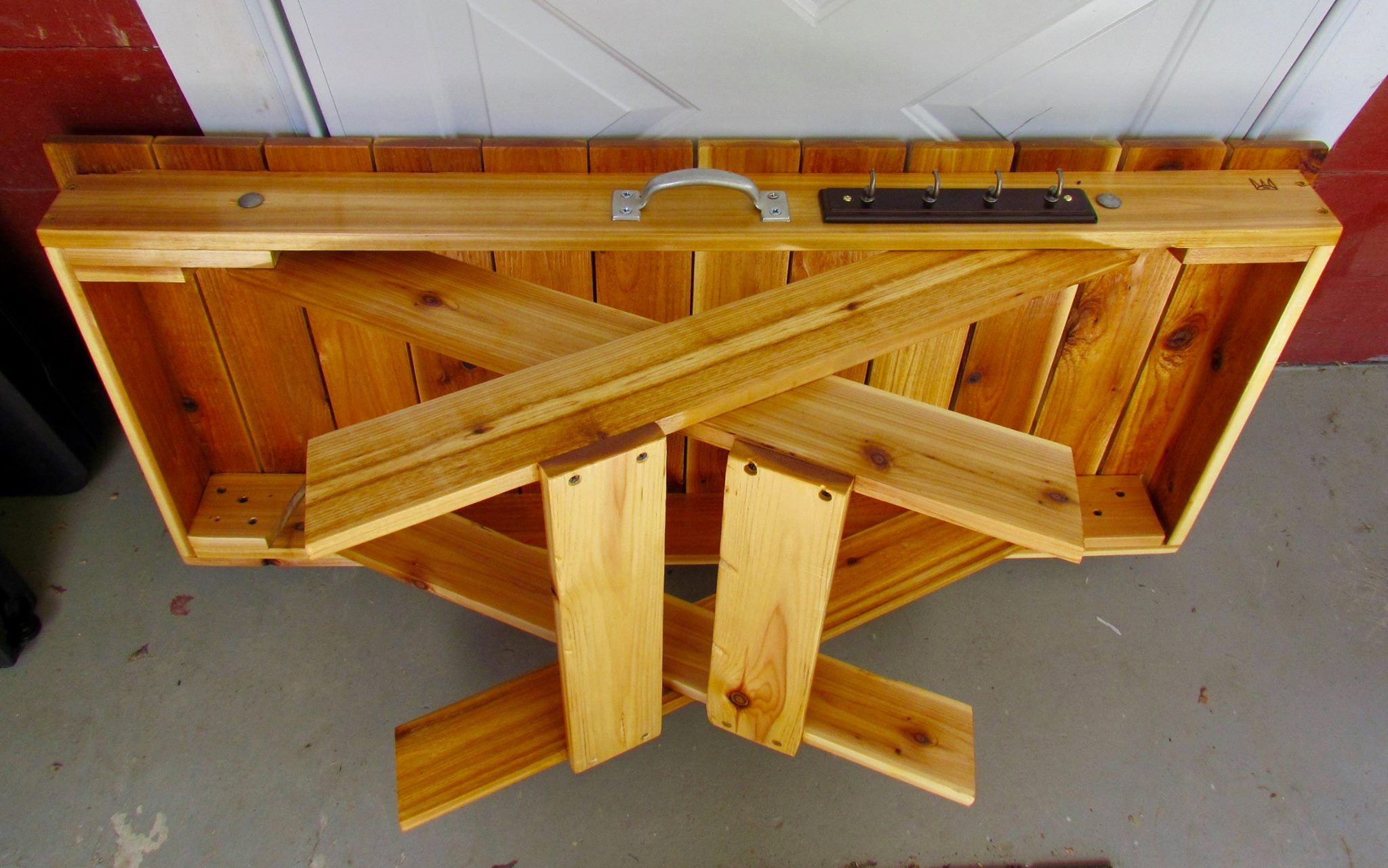 Handmade Folding Grill Table Wood Grill Table Camping