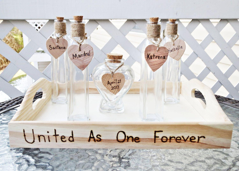 Custom heart shaped vase wedding unity sand ceremony set of 5 custom heart shaped vase wedding unity sand ceremony set of 5 glass vases with personalized reviewsmspy