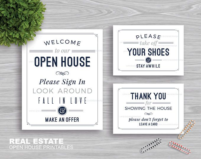 graphic relating to Welcome to Our Open House Printable referred to as True Estate \