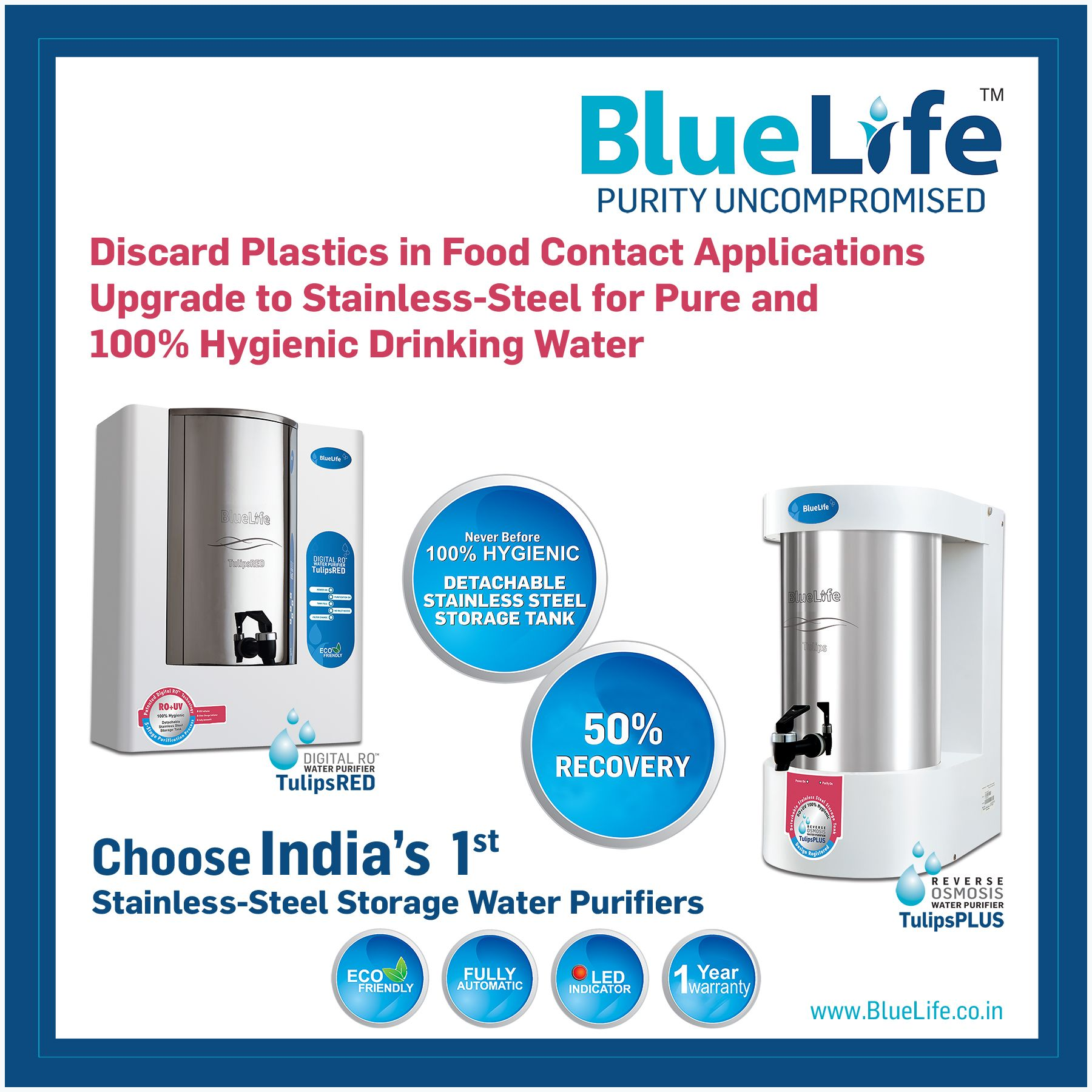 It's Time to Replace Plastic Storage Water Purifiers