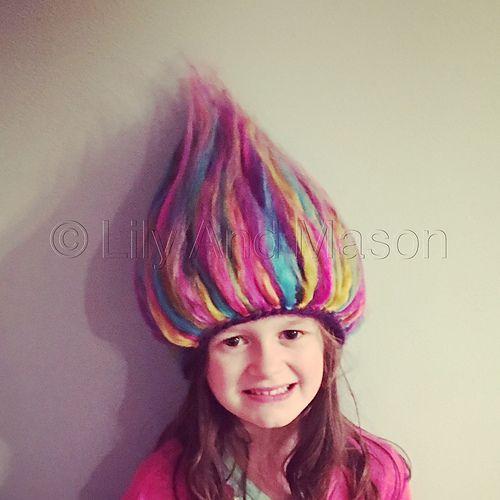 Rainbow Troll Hair Crochet Hat pattern by Keri Palbicki (Lily And Mason)  free 9684576316e