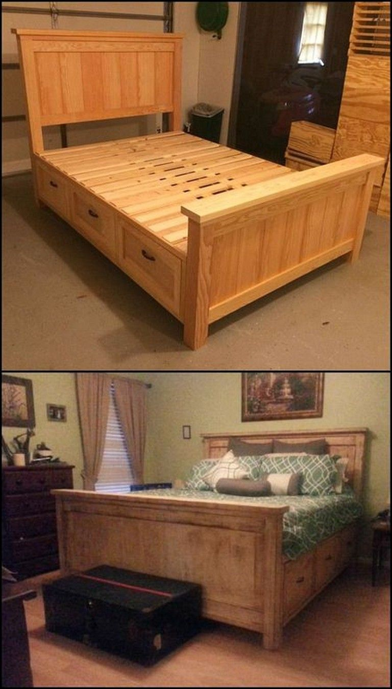 24+ Simple and Cheap DIY Bed Frame Designs With Storage
