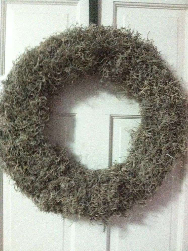 two 19 inch new spanish moss burlap wreaths ebay finds pinterest