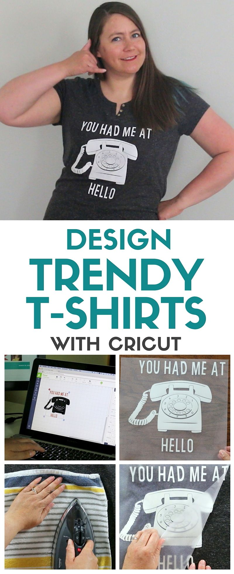 3f4527dc Learn how to make your own trendy t-shirts using iron-on vinyl and the  Cricut. Wear your favorite movie quotes or design from scratch. Video  tutorial