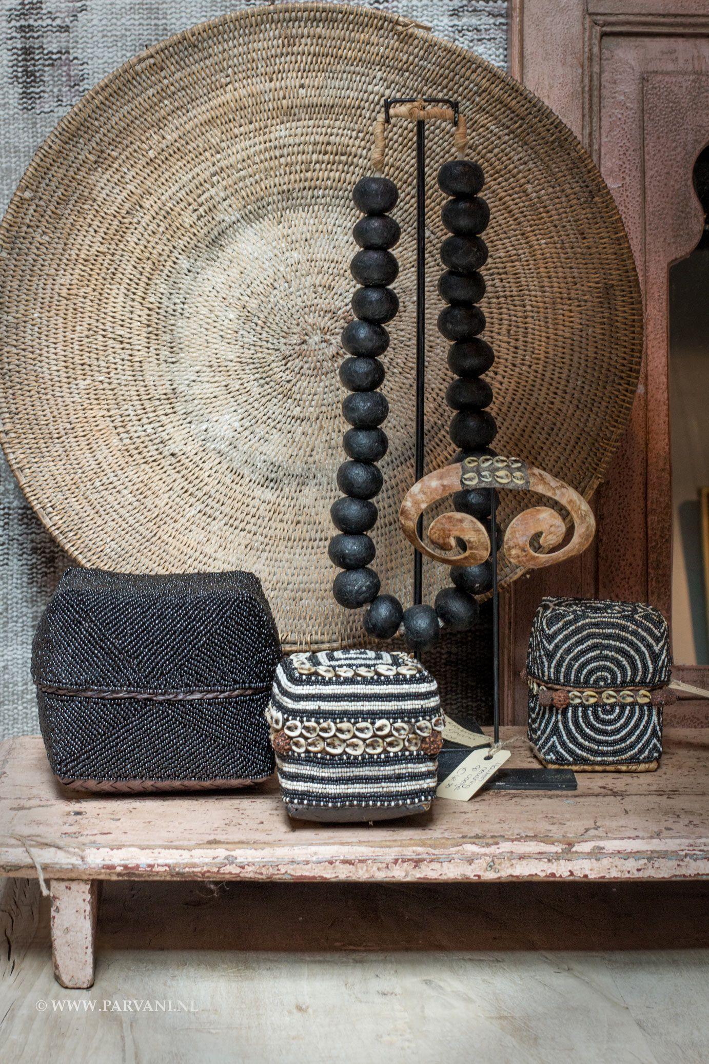 Parvani Ketting Op Standaard Kralen Mandjes Spiegel India Stijl Voor Huisinrichting Afrikaanse Interieur Woonkamer Decoratie