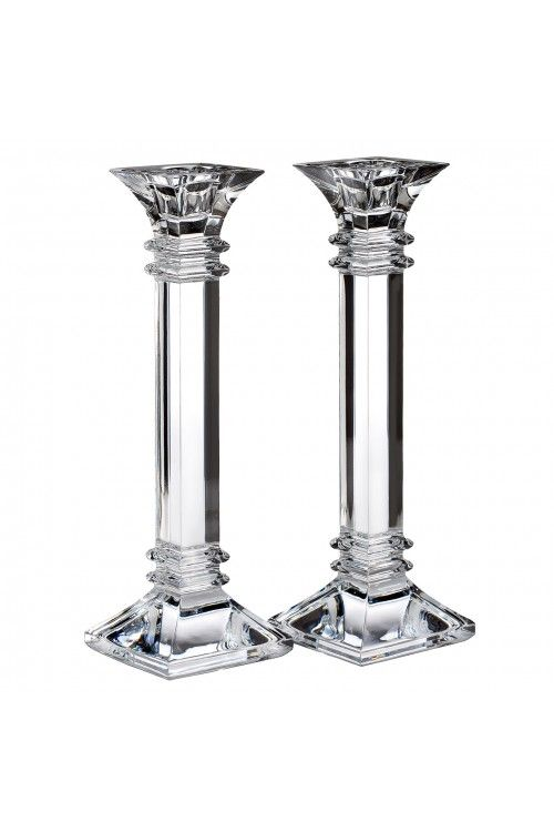 Treviso 10in Candlestick, Pair Candlesticks, Crystals