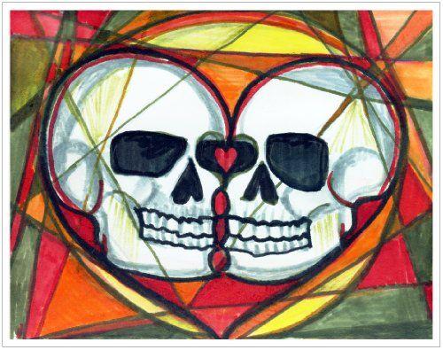 11x14 True Love Muertos Skulls Art Print Artisan Courtyard http://www.amazon.com/dp/B00KBTG85Q/ref=cm_sw_r_pi_dp_rEbkvb0ECTNG2