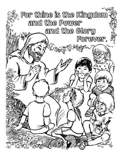 coloring pages about prayer - lord 39 s prayer coloring for thinge is the kingdom free printable lord 39 s prayer coloring