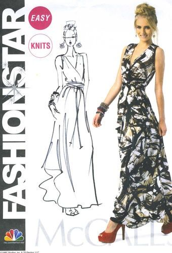 Awesome Maxi Dress McCall\'s Sewing Pattern 6700 Fashion Star Easy ...