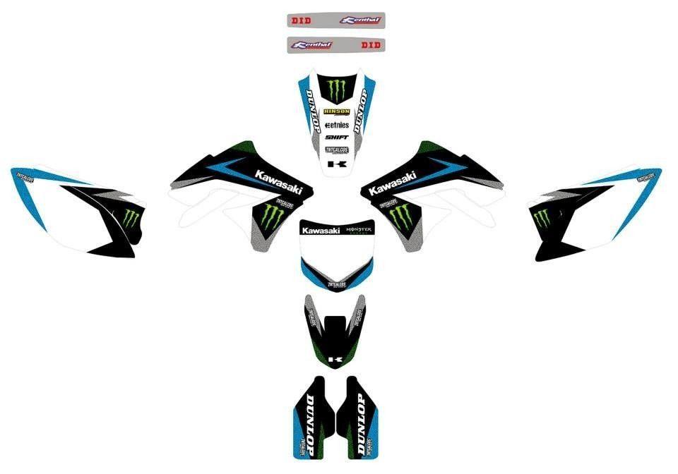 Kawasaki KXF 250 / KXF 450, Graphics decals!! Monster